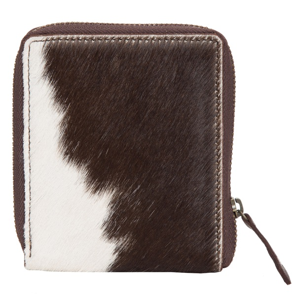 Small Cowhide Zippered Unisex Wallet – CA04
