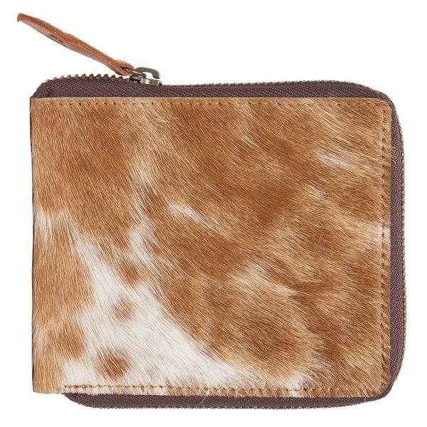 Ca04 Tan White Cowhide Wallet Back