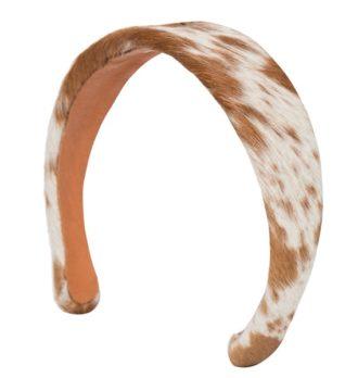 CAHB tan white cowhide headband 330x348 Home Modern
