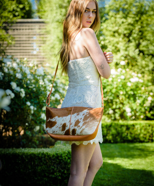 Slouchy Cowhide Bag – Naples (B71033)