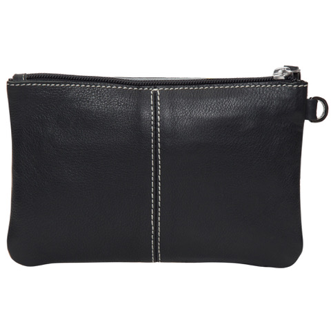 Ac41 Black White Cowhide Tooling Clutch Back