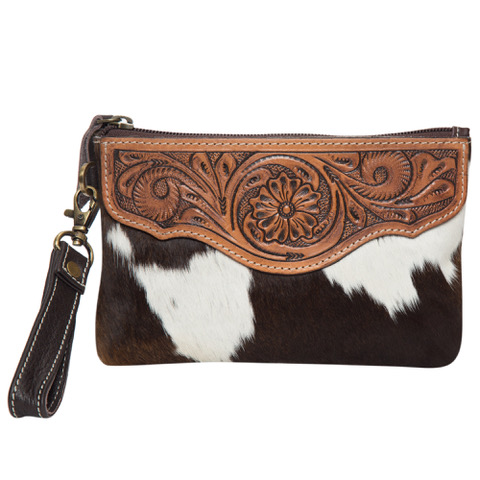 Ac41 Brown White Cowhide Tooling Clutch