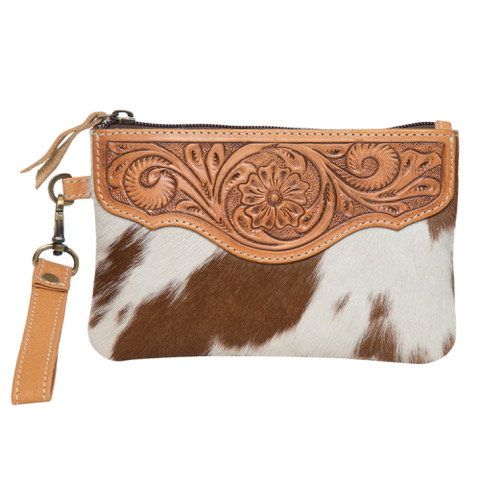 Ac41 Tan White Cowhide Tooling Clutch