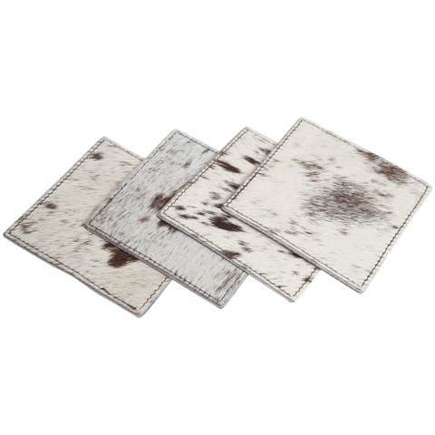Cowhide Coaster Set of 4 – CACOS