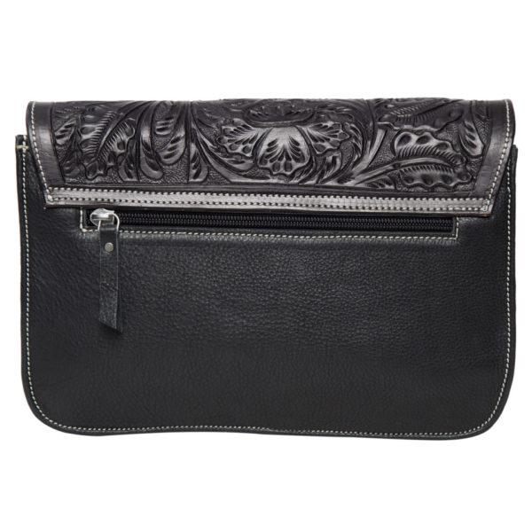 Ab05 Black White Cowhide Bag Back