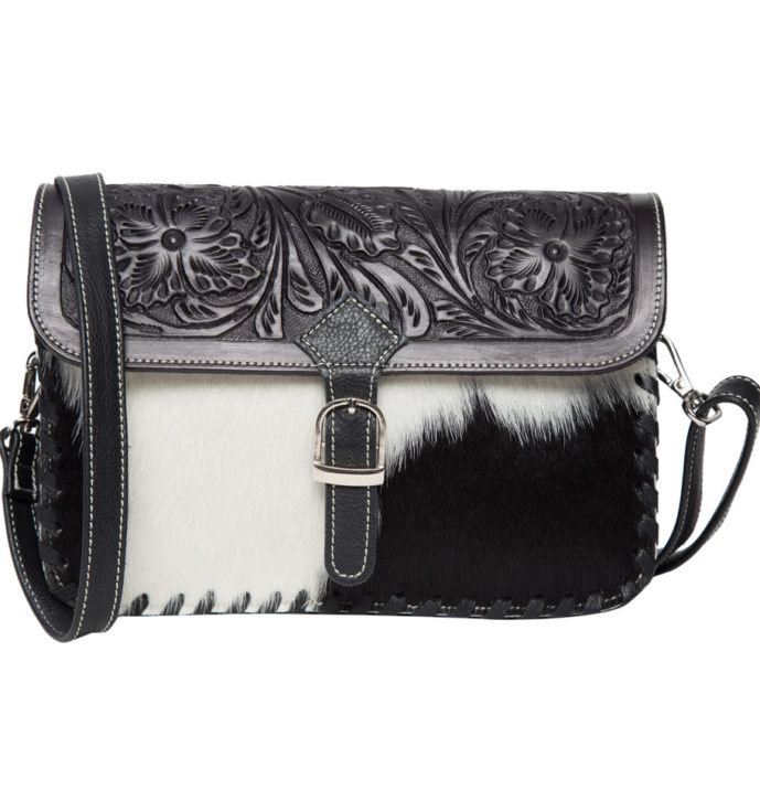 Tooling Leather Flap Cowhide Bag – AB05