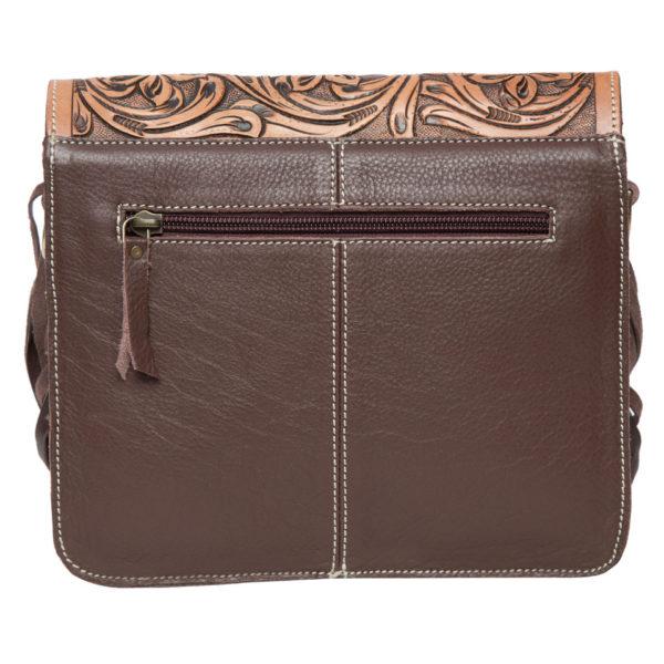 Ab06 Brown White Cowhide Bag Back