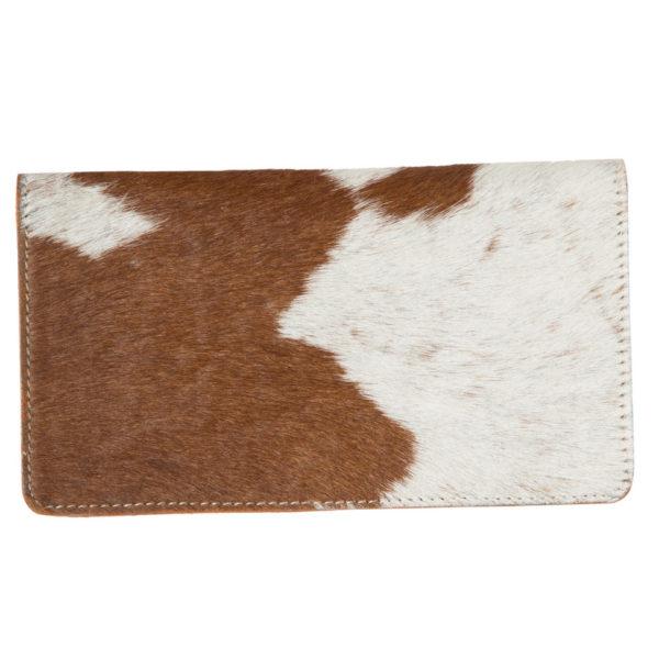 Aw22 Tan White Cowhide Tooling Slim Wallet Back