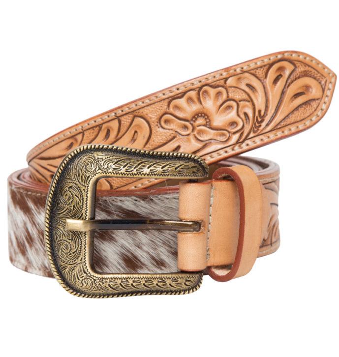 Tooling Leather Cowhide Belt – Belt06